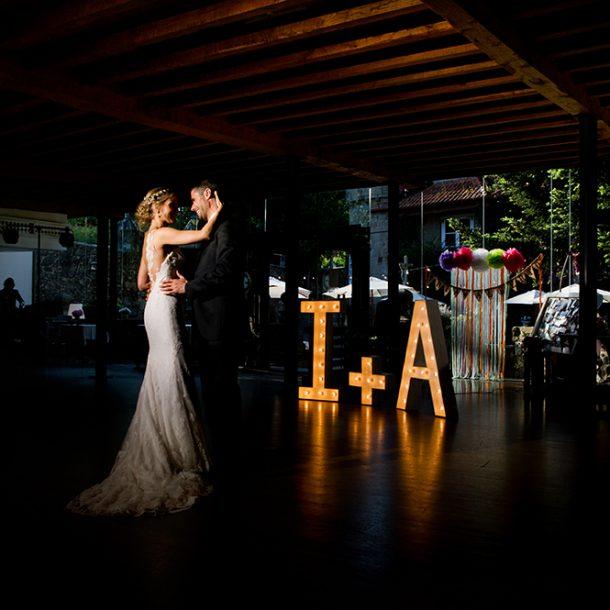 Baile inaugural en el banquete de una boda en el Pazo de Vilaboa