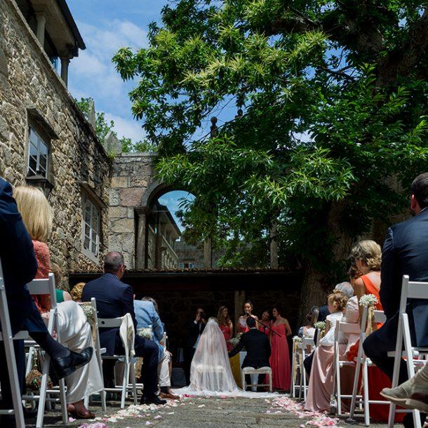 Discurso de las damas de honor en una boda en el Pazo de Vilaboa